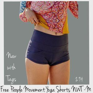 FREE PEOPLE Pocket Yoga Shorts Deep Plum M